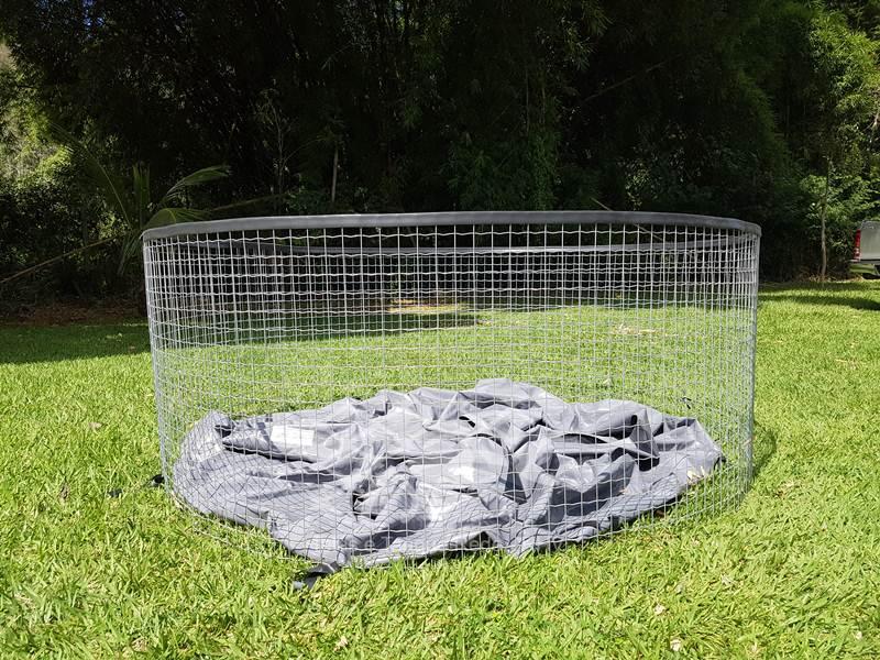 Tanque circular suspenso australiano em tela telas e for Manual de piscicultura tilapia